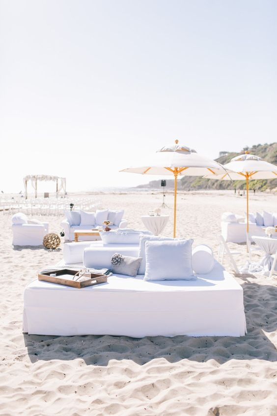 Beach Wedding Lounge Ideas - via aboutdetailsdetails.com
