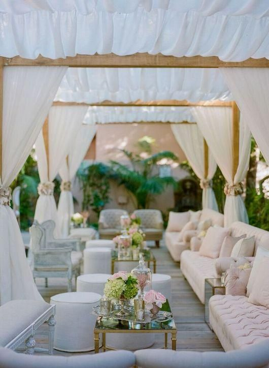 Classic Wedding Lounge Ideas - via glamour.com