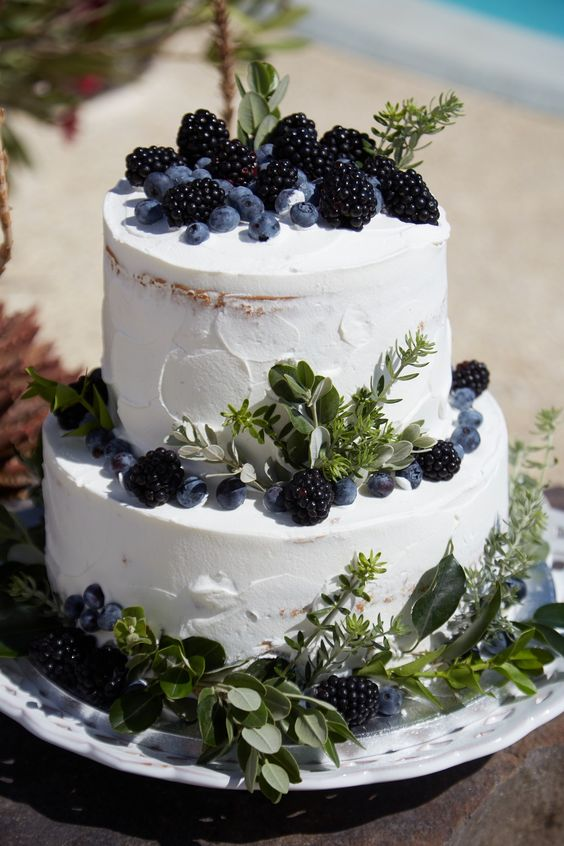 Berry Wedding Cake - via thediamondrock.com