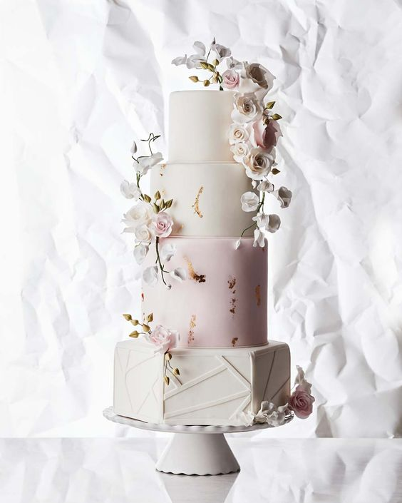 Geometric Wedding Cake - via weddingbells.ca