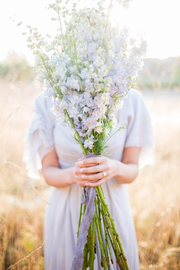 Long Stem Wedding Bouquet - via elle.com.au