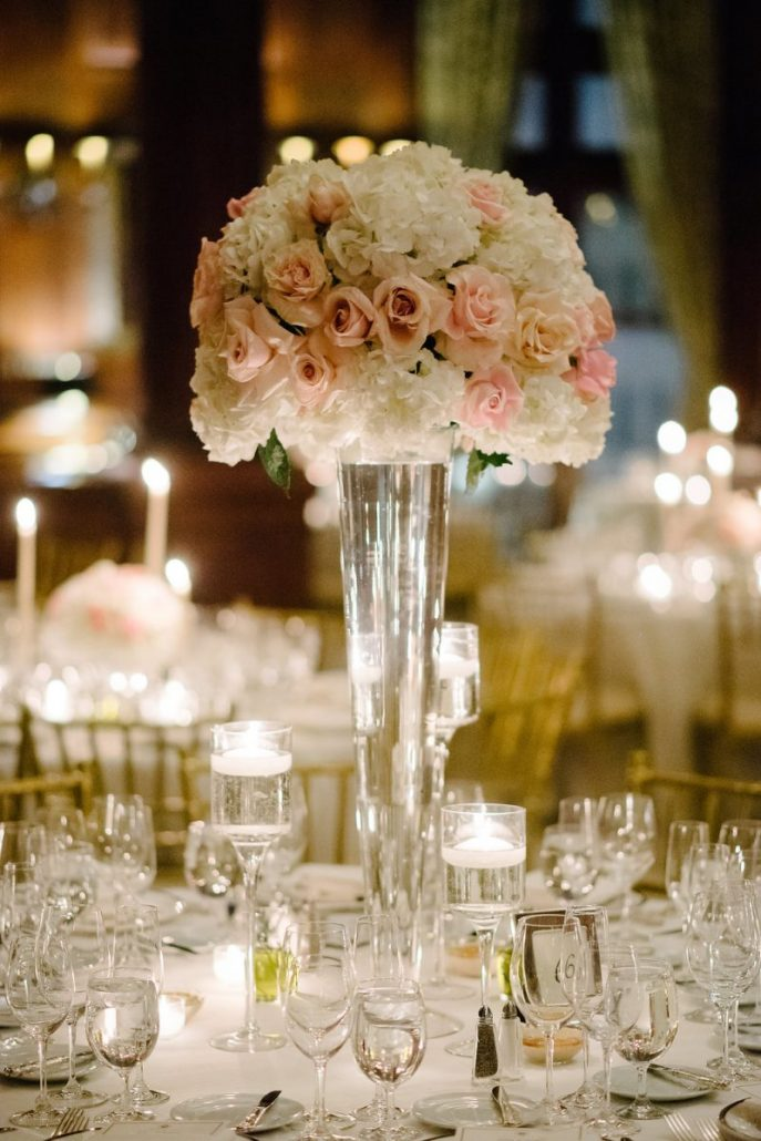 Adina & Doug Wedding - High Centerpiece - University Club -Brian Hatton Photography