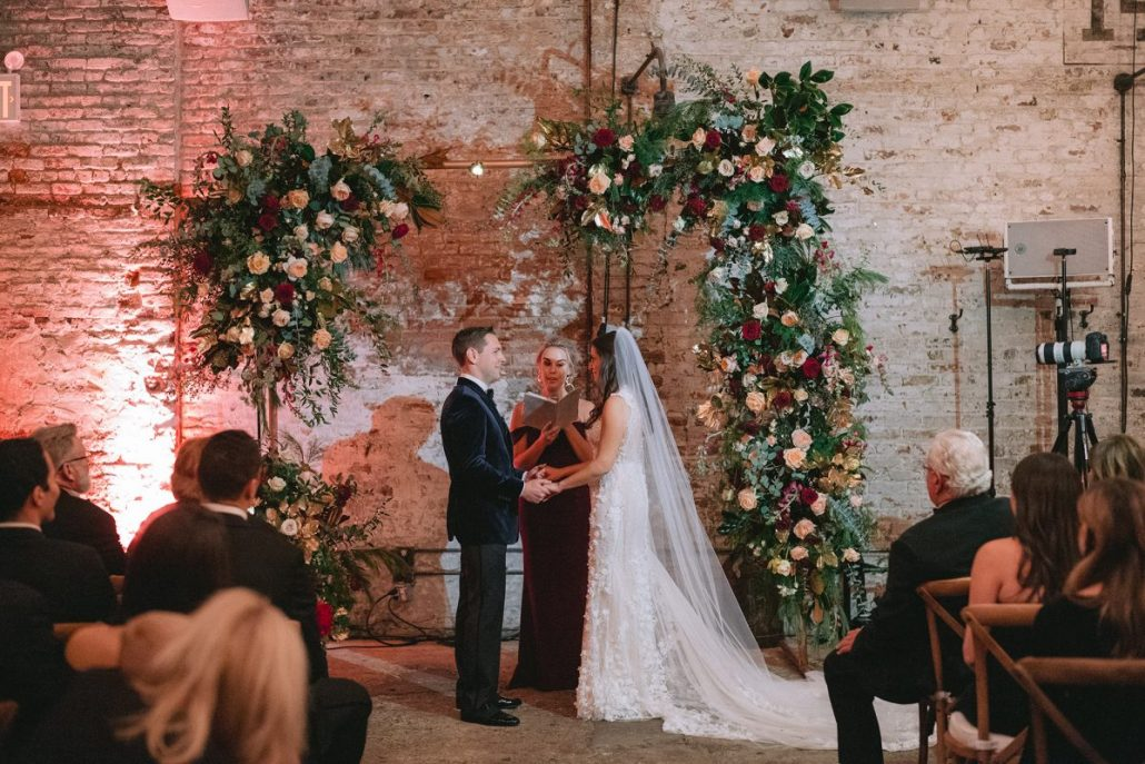 Nicole & Matt - Wedding - Flower Arch Ceremony - Houston Hall - Jaylim Studio