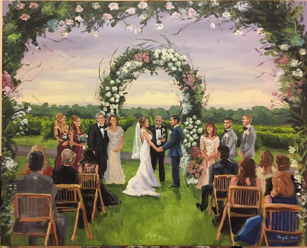 Wedding At Raphael Vineyards - courtesy of artist