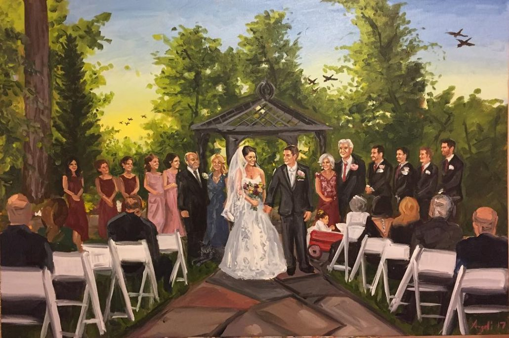 Wedding At English Manor - courtesy of artist