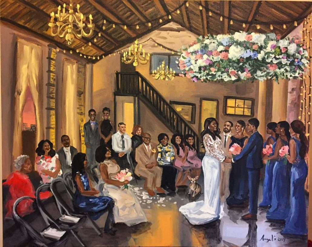 Ashley & Tiffany's Wedding At Green Building - courtesy of artist