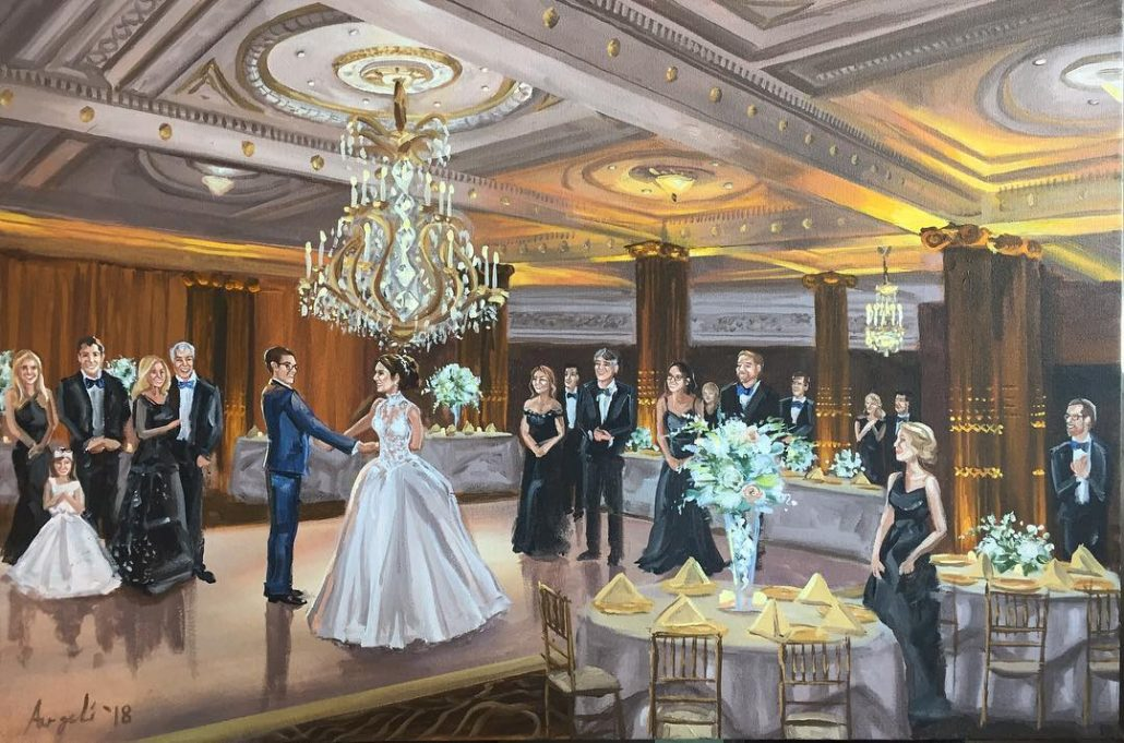 Wedding at Crystal Tea Room - courtesy of artist