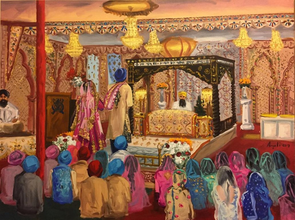 Sikh Ceremony at Gurdwara Mata Sahib Kaur - courtesy of artist