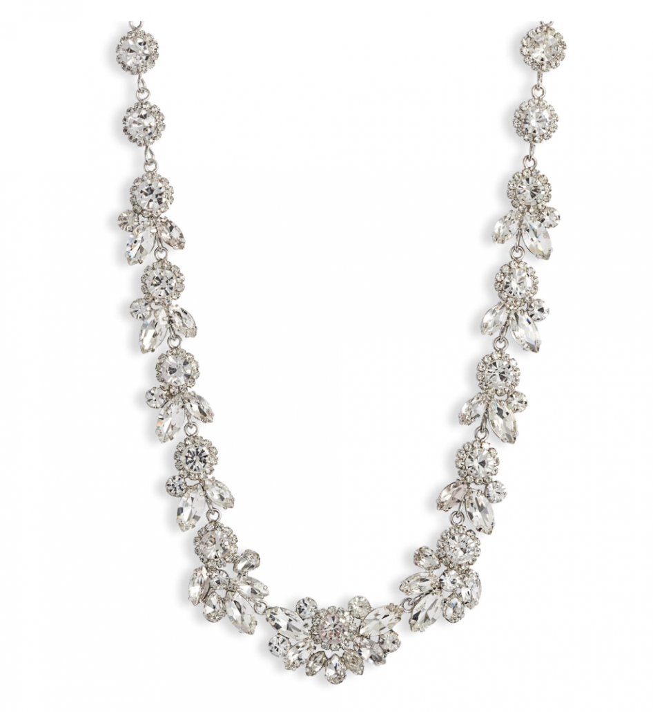 Cristabelle Floral Crystal Statement Necklace - via nordstrom.com