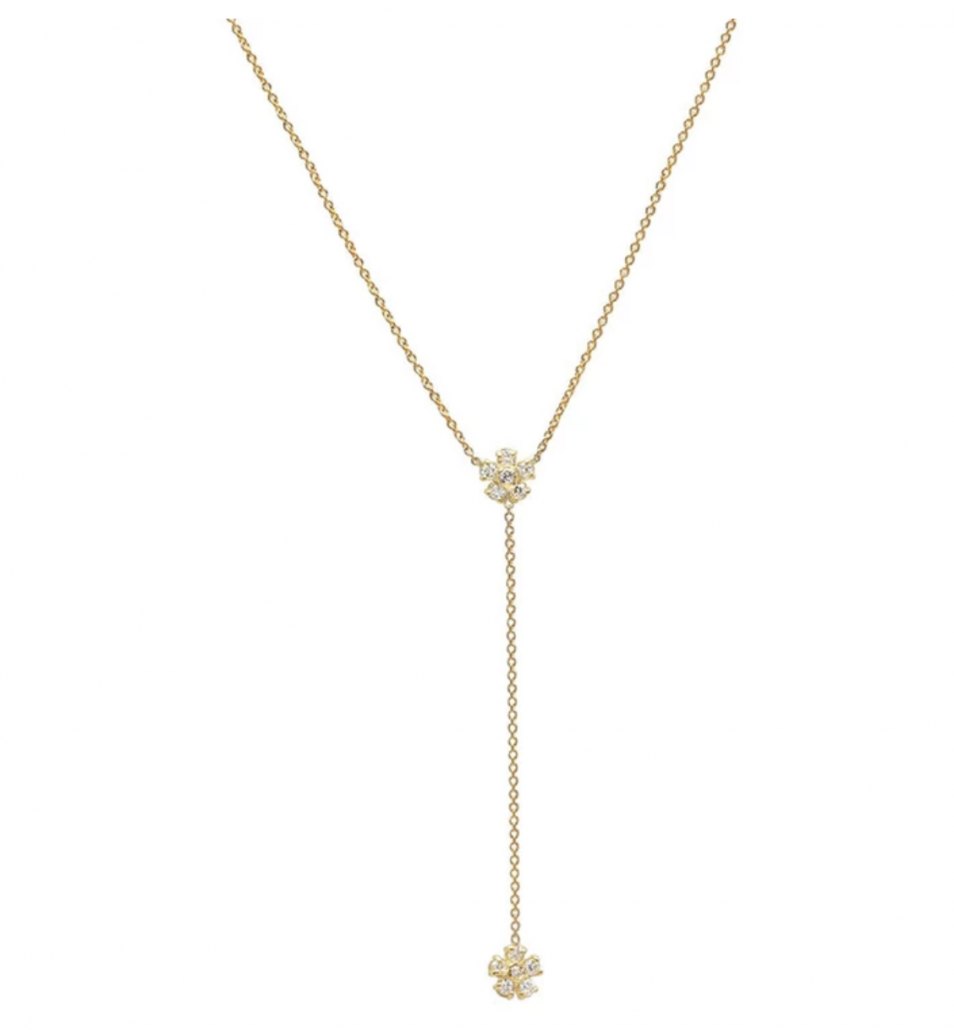 Jennifer Meyer Diamond Flower Lariat - via jennifermeyer.com