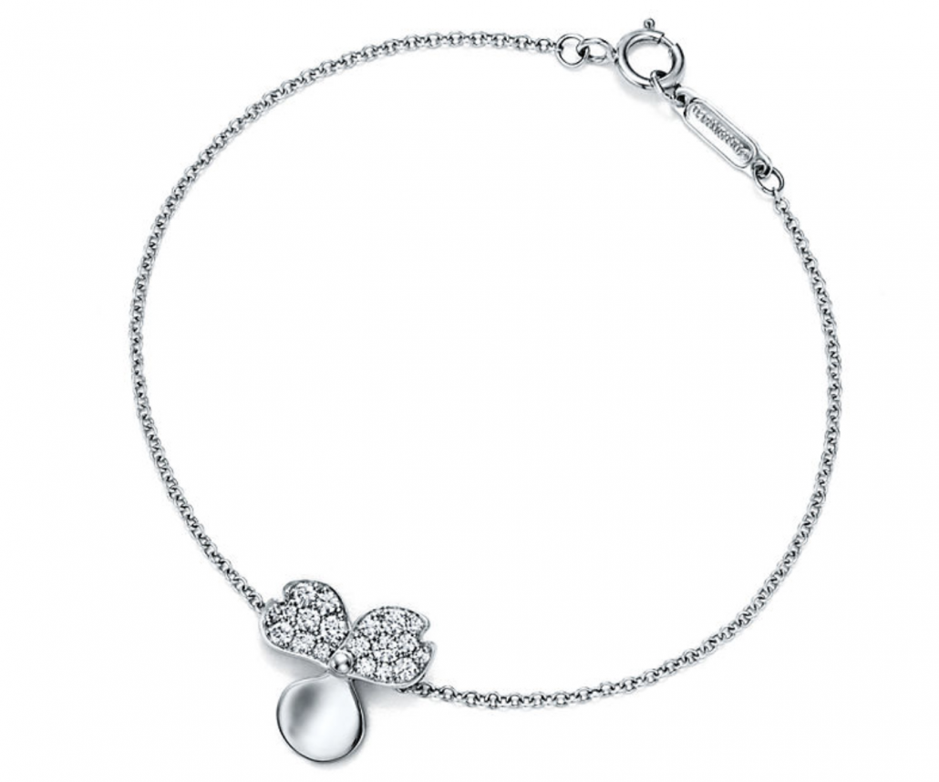 Tiffany Paper Flowers Diamond Flower Bracelet - via tiffany.com