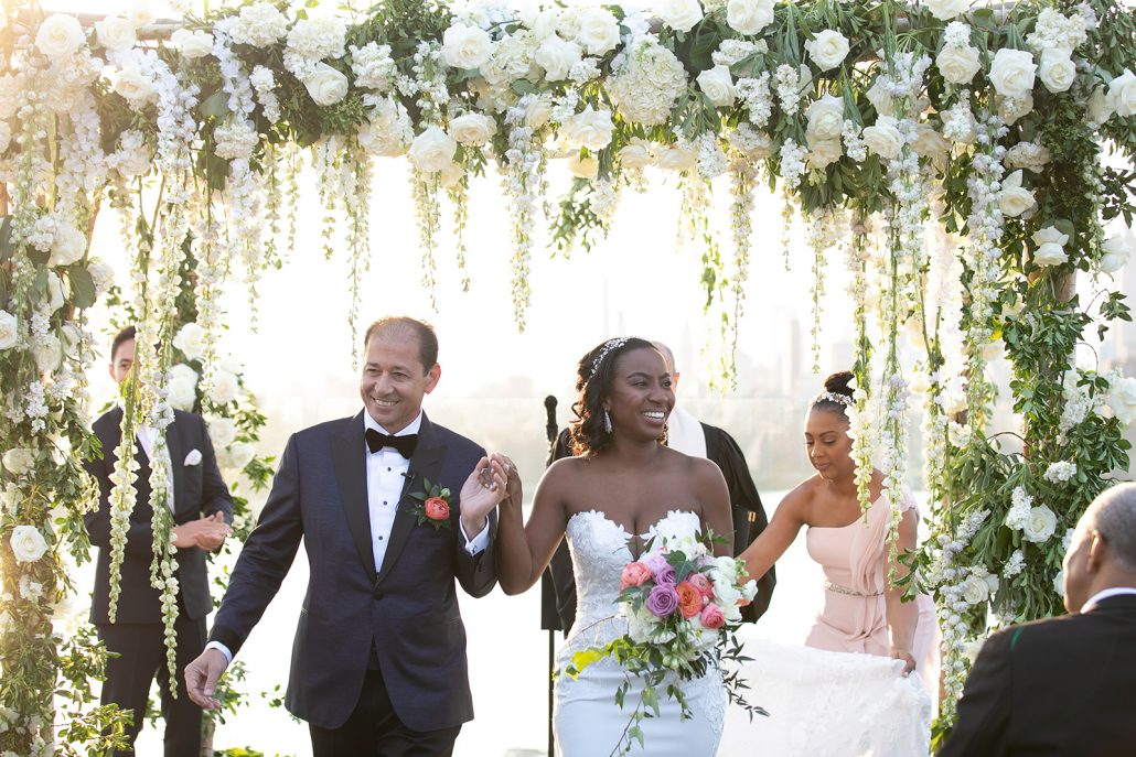 Heather & Amos Wedding - Bride Groom Bouquet Chuppah - William Vale - Jovon Photography