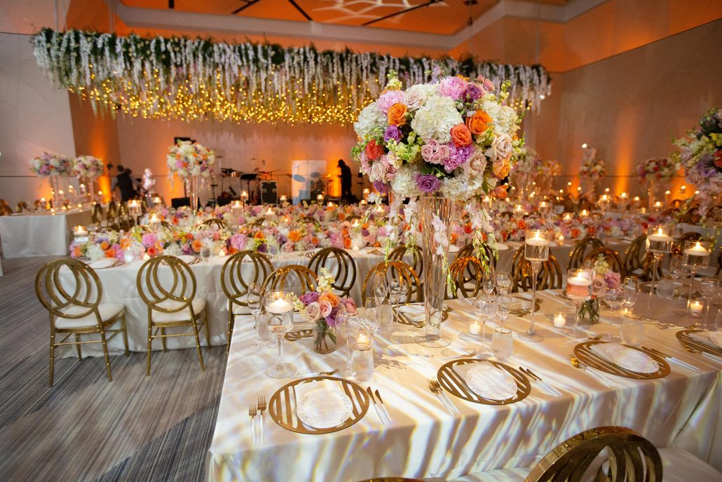 Heather & Amos Wedding - High Centerpiece - William Vale - Jovon Photography