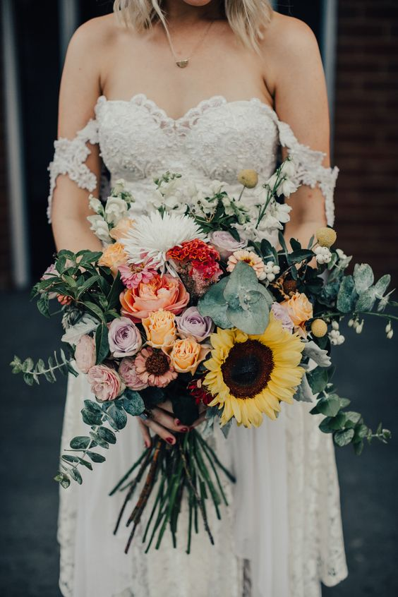 Sunflower Wedding Bouquet - via nouba.com.au