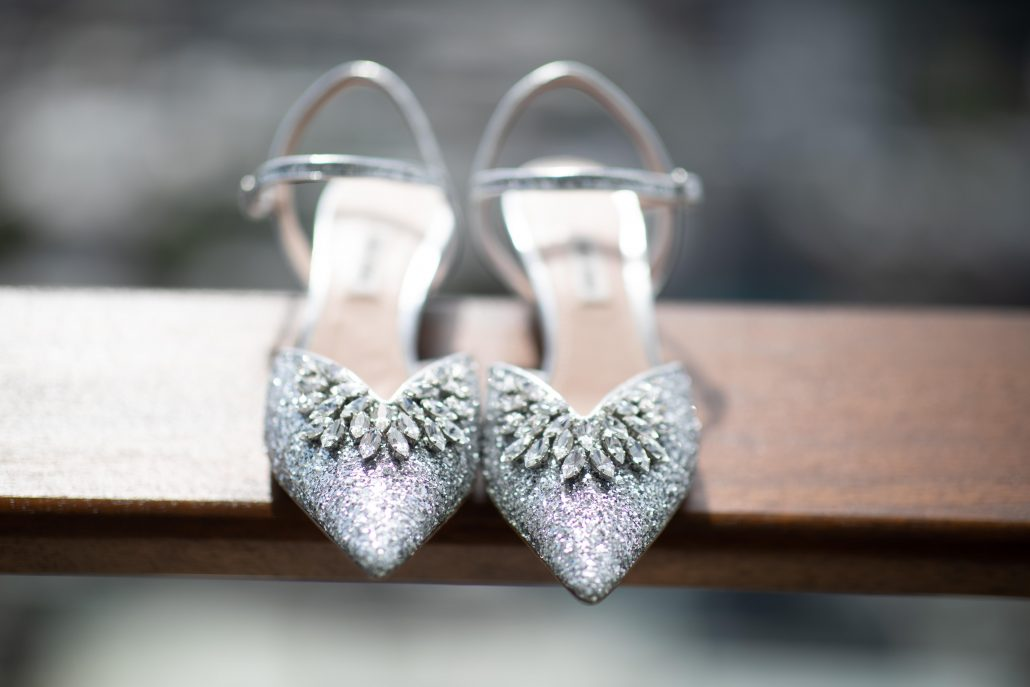 Heather & Amos Wedding - Bride Wedding Shoes - William Vale - Jovon Photography