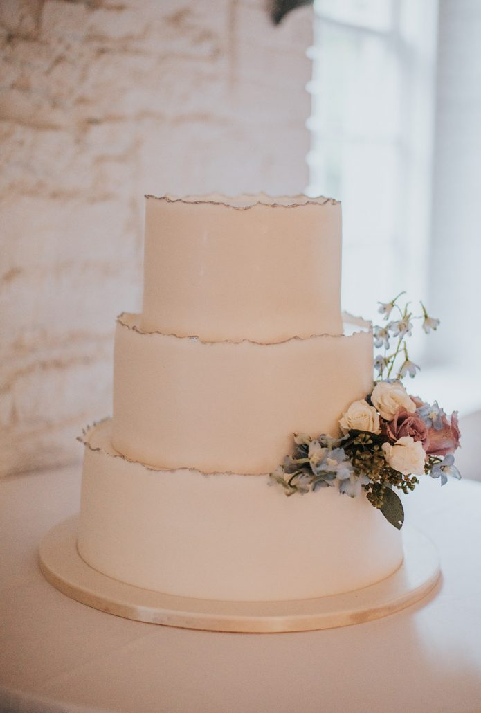Kelsey and Matt Wedding - Wedding Cake - Stone Mill New York Botanical Garden - Hitches and Unions