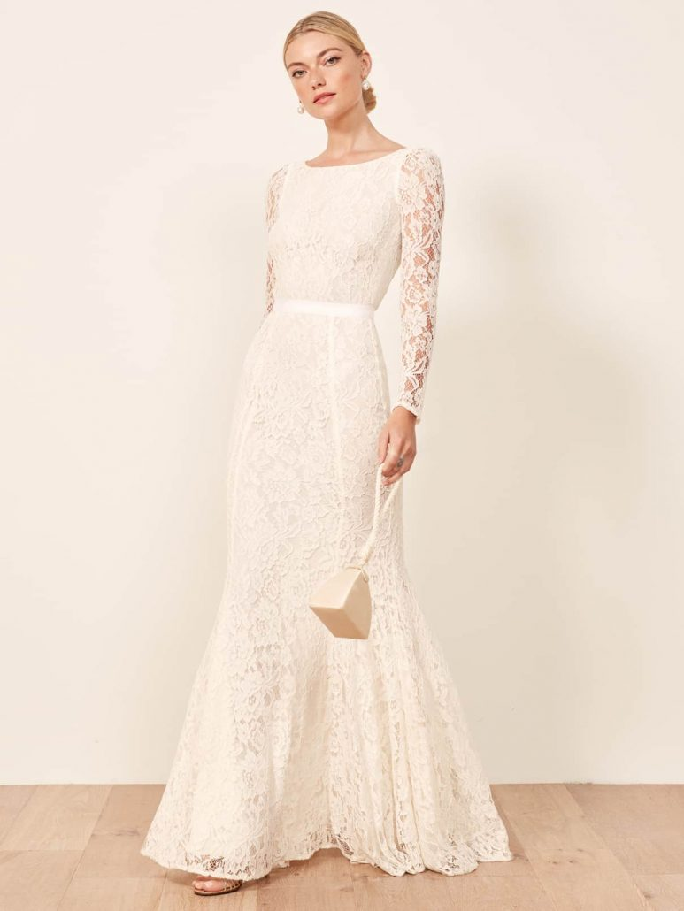 Reformation Wedding Dress - via thereforemation.com