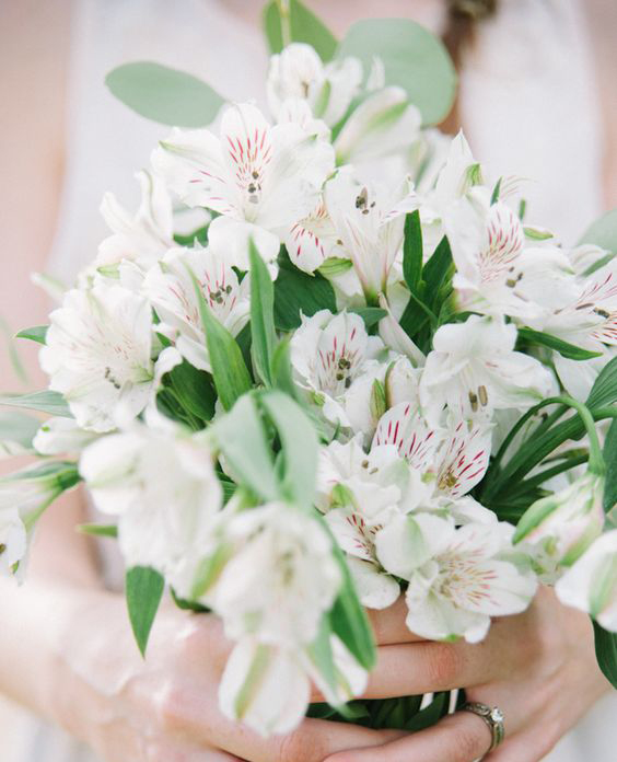 Alstroemria Wedding Bouquet - via weddingchicks.com