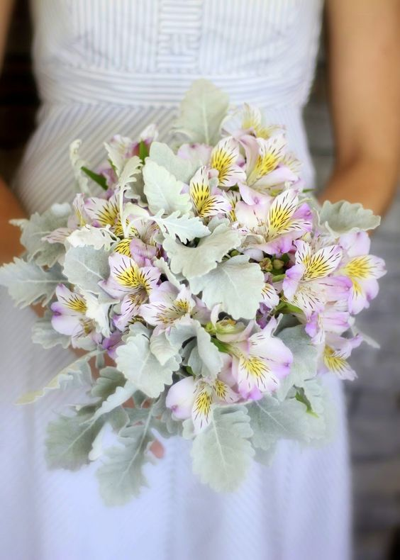 Alstroemeria Wedding Bouquet - via pinterest.com