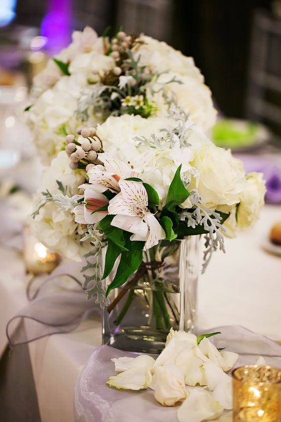 Alstroemeria wedding centerpiece - via theknot.com