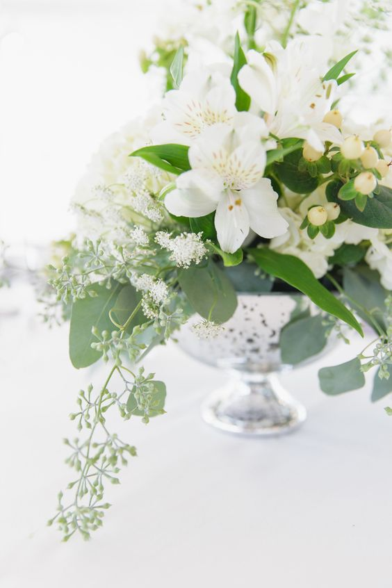 Alstroemeria Wedding Centerpiece - via stylemepretty.com