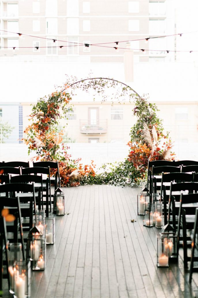 Fall Wedding Moon Gate - via stylemepretty.com