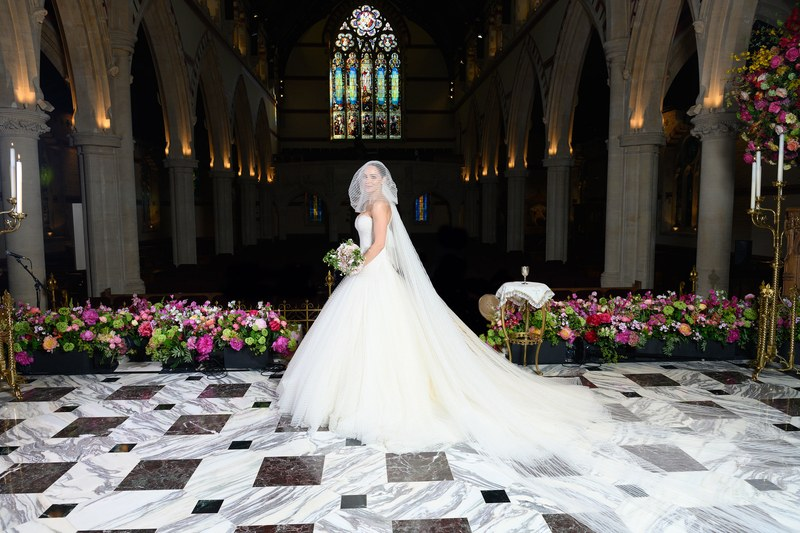 Katharine McPhee David Foster Wedding - via vogue.com