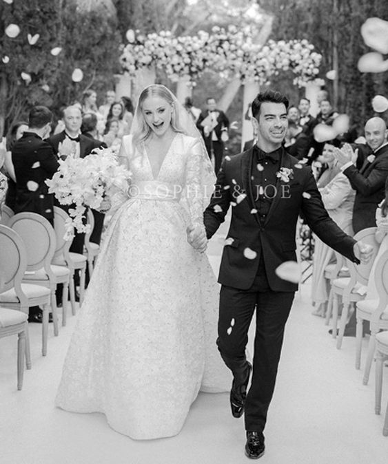 Sophie Turner Joe Jonas Wedding - via people.com
