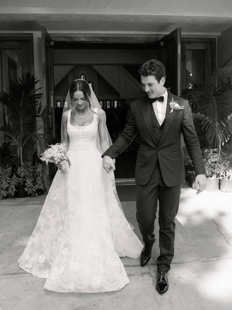 Keleigh Sperry Miles Teller Wedding - via vogue.com