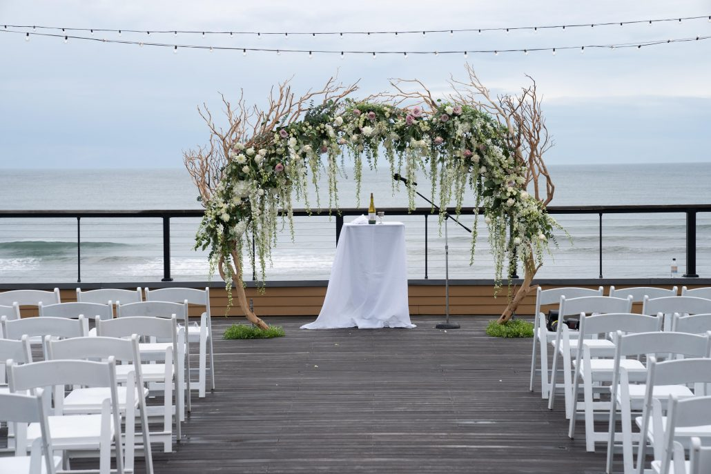 Randi & Bryan Wedding - Chuppah - Gurneys Montauk - JoVon Photography