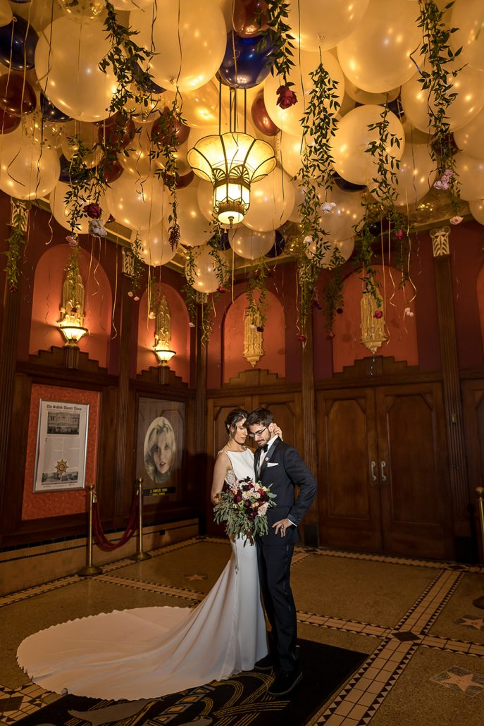 Melanie & Nick Wedding - Bride and Groom - Suffolk Theater - Sean Gallery Photography