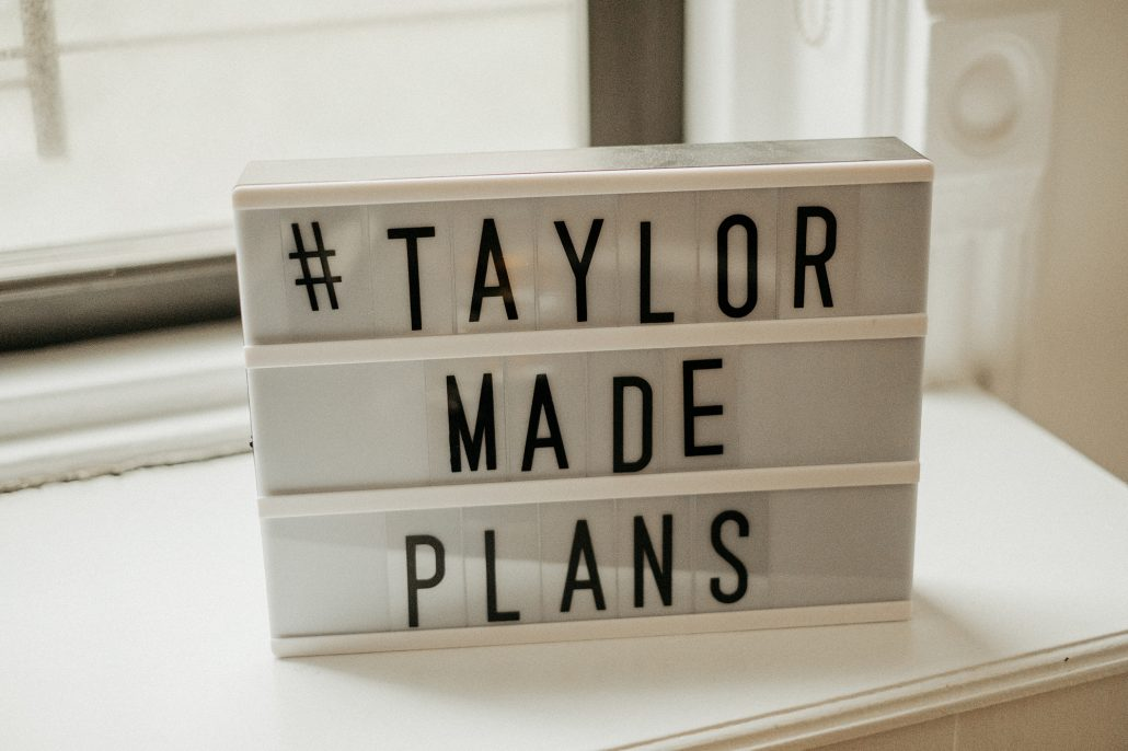 Taylor & Aubrey Wedding - Sign - Burden Mansion - by The Portos