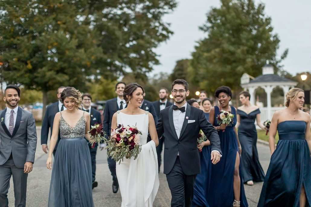 Melanie & Nick Wedding - Bride and Groom - Wedding Party - Suffolk Theater - Sean Gallery Photography