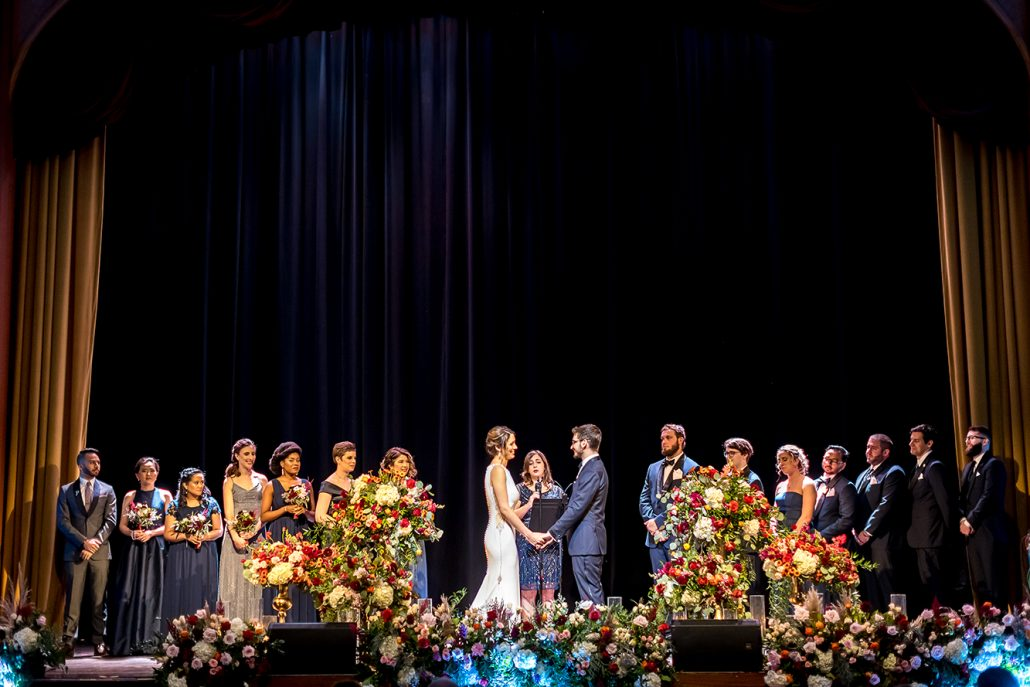 Melanie & Nick Wedding - Ceremony -Suffolk Theater - Sean Gallery Photography