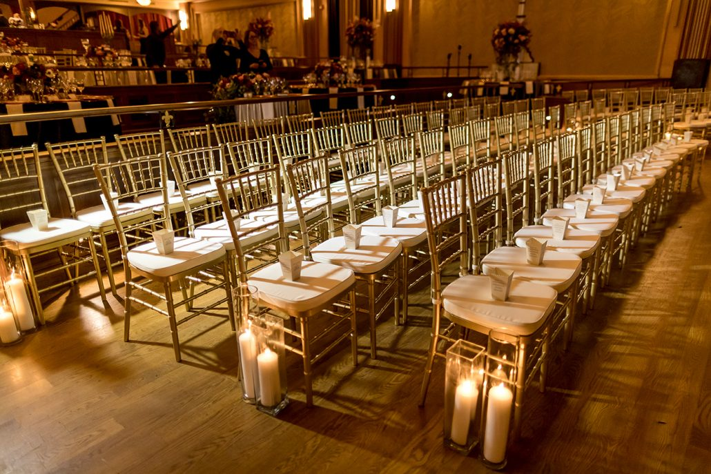 Melanie & Nick Wedding - Ceremony Aisle Candles - Suffolk Theater - Sean Gallery Photography