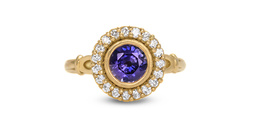 Skull Halo Purple Sapphire Ring - Til Death Do Us Part Wedding Jewelry - image courtesy of Fitzgerald Jewelry