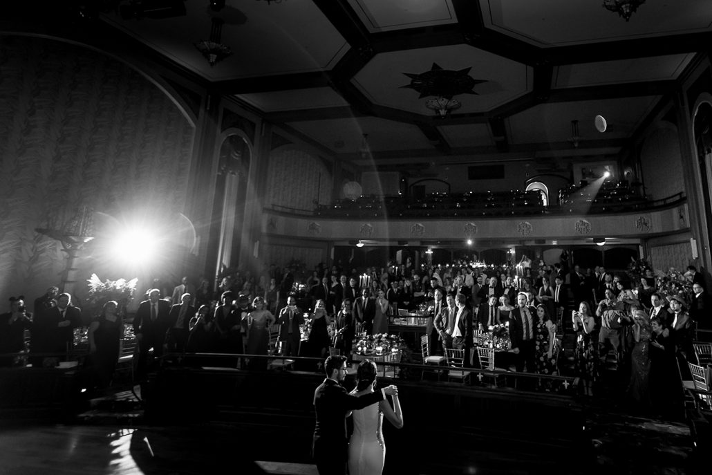 Melanie & Nick Wedding - Bride and Groom First Dance - Suffolk Theater - Sean Gallery Photography