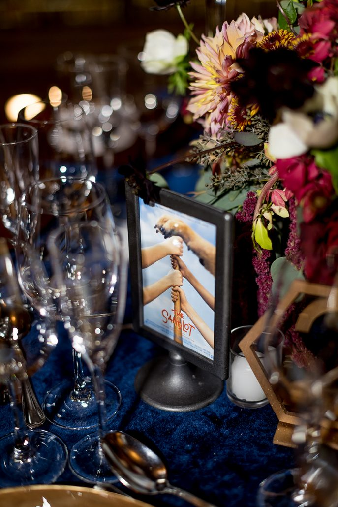 Melanie & Nick Wedding - Table Name Card - Suffolk Theater - Sean Gallery Photography