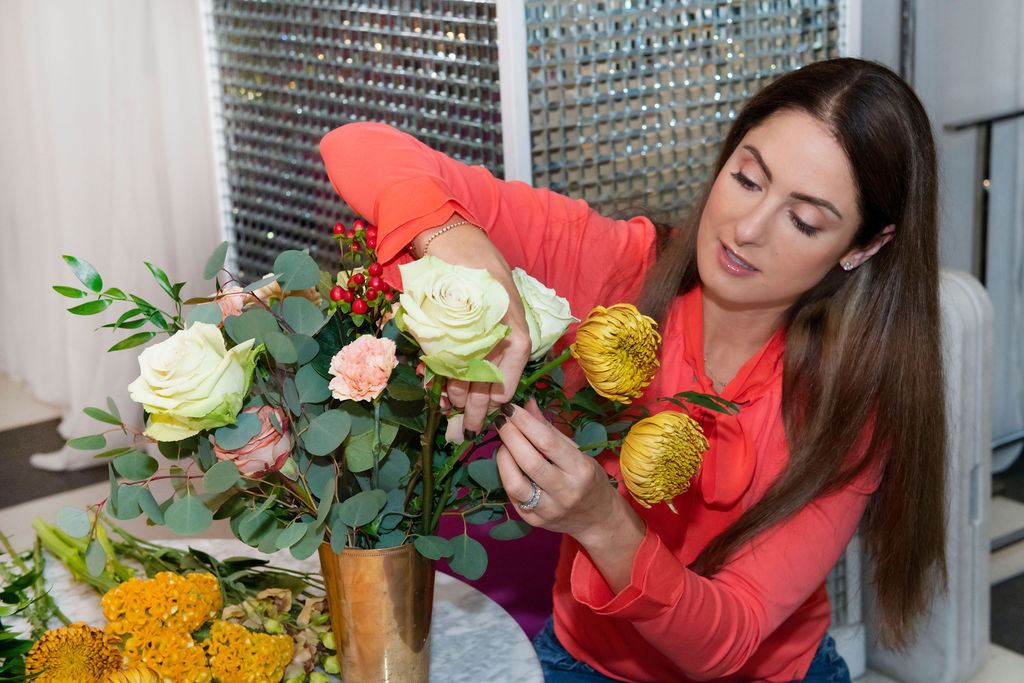 Showroom with Rachel - BB behind the scenes - Fall Floral Trends - Kim Mancuso Photography