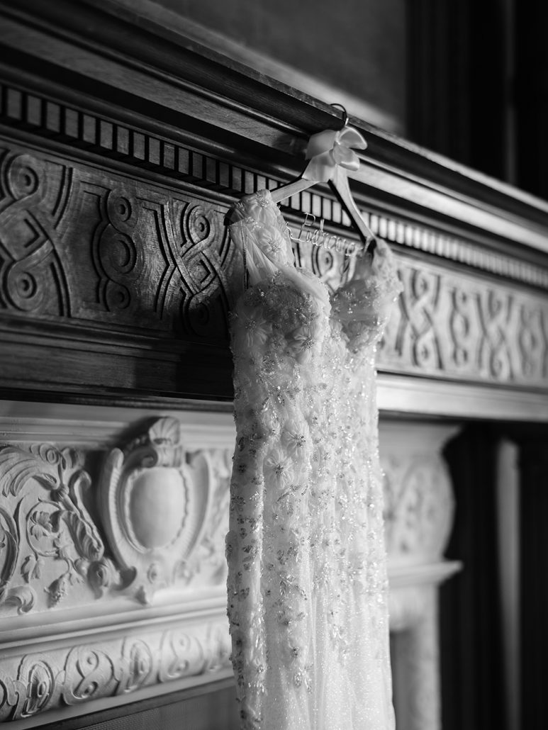 Lauren & Lou Wedding - Brides Dress Detail - Natirar - Pat Furey Photography