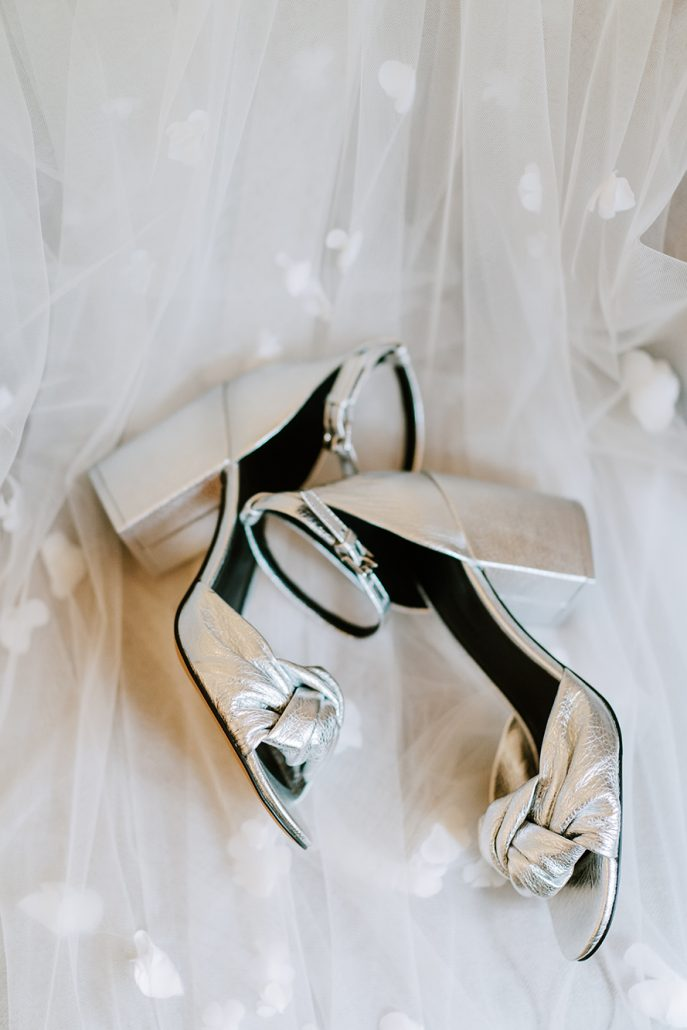Lauren & Lou Wedding - Brides Shoes - Natirar - Pat Furey Photography