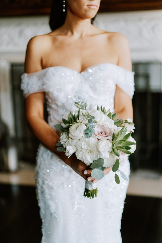 Lauren & Lou Wedding - Brides Bouquet - Natirar - Pat Furey Photography