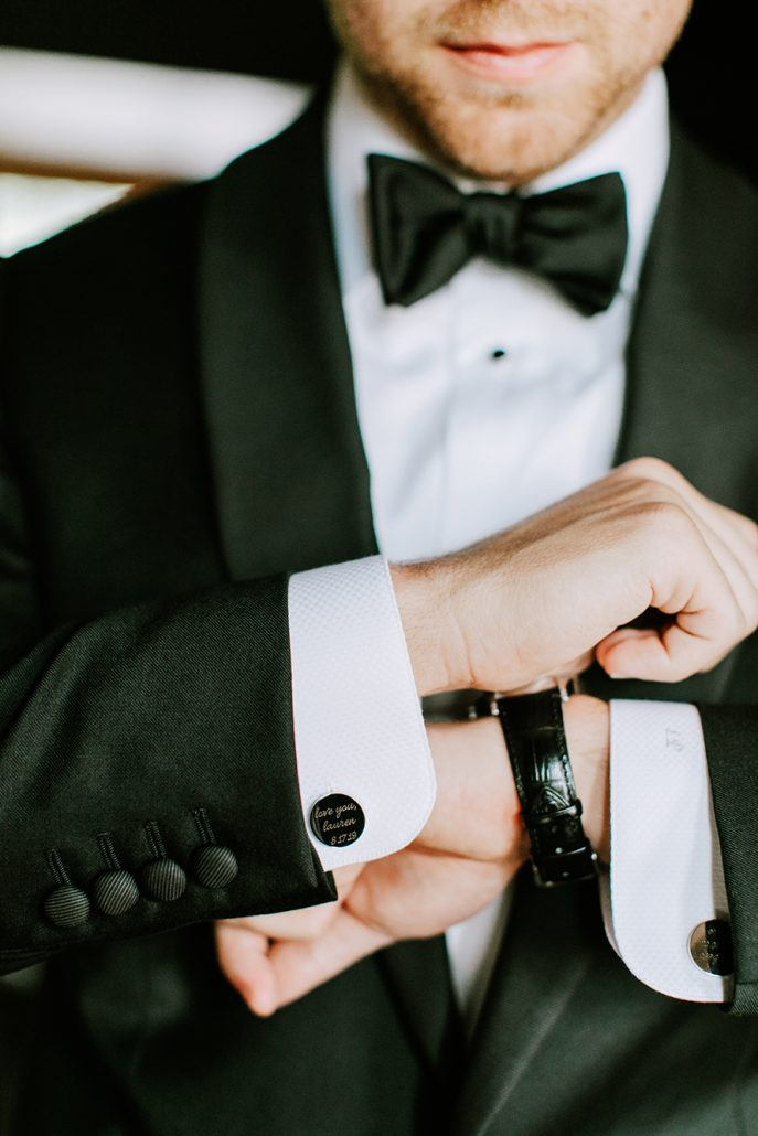 Lauren and Lou Wedding - Grooms Cufflinks - Natirar - Pat Furey Photography