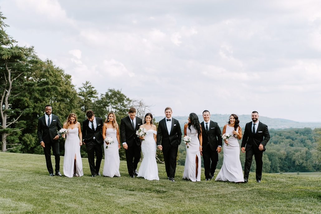 Lauren & Lou Wedding - Wedding Party Portrait - Natirar - Pat Furey Photography