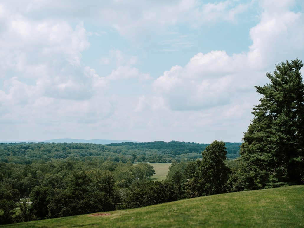 Lauren & Lou Wedding - Ceremony View - Natirar - Pat Furey Photography