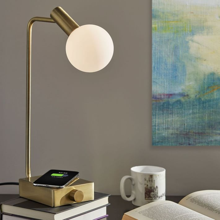 Modern Deco LED Wireless Charging USB Task Lamp - via westelm.com