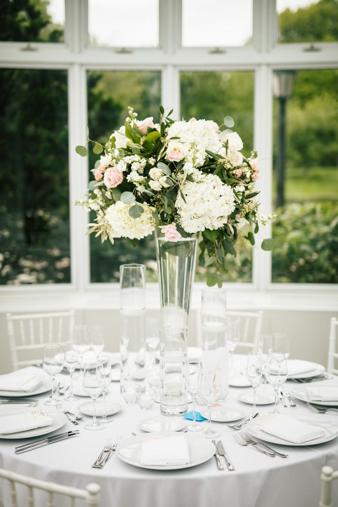 Jennifer & Sean Wedding - High Centerpiece - Brooklyn Botanic Garden - by Andrew Henderson