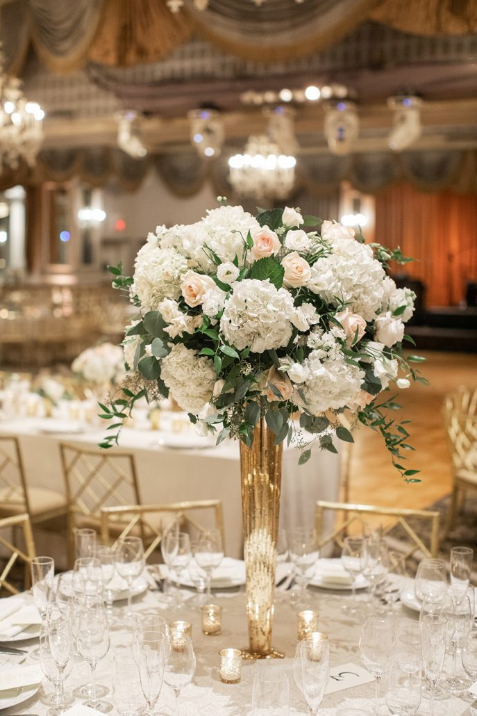 Caitlin & Dave Wedding - High Centerpiece - Pierre Hotel - Kelsey Combe Photography