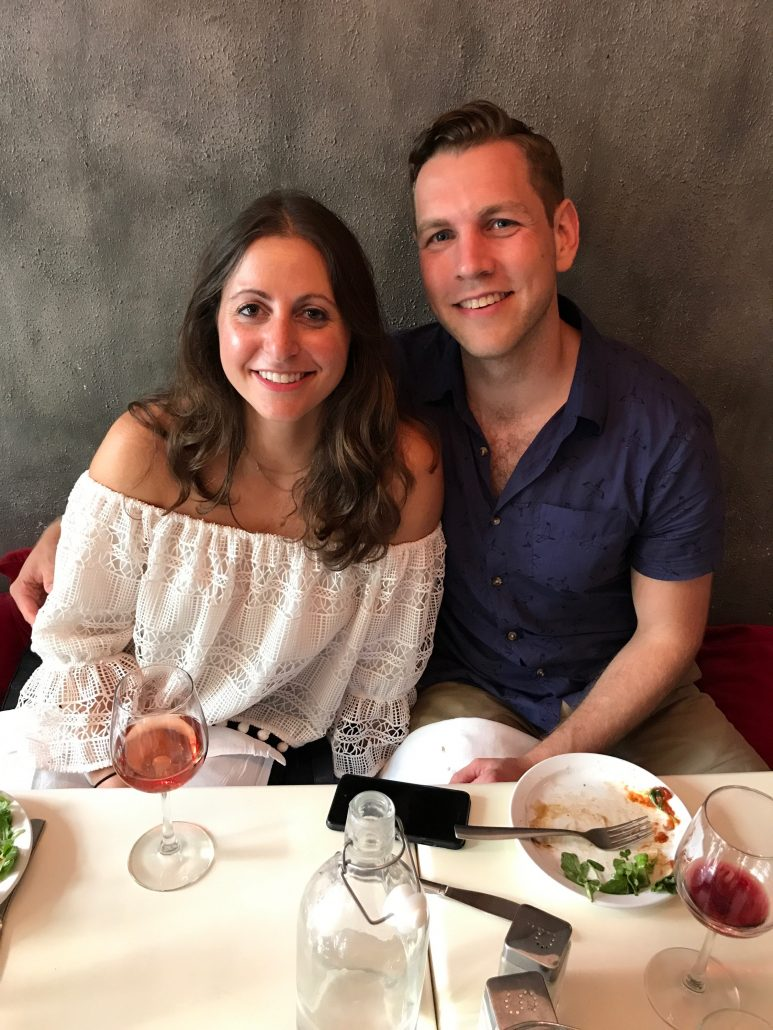Nicole and Matt Wedding - Proposal Lunch - Photo Courtesy of Bride