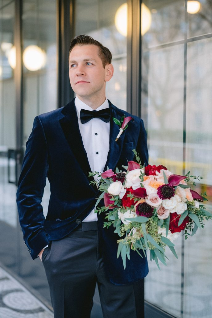 Nicole & Matt Wedding - Groom Brides Bouquet - Houston Hall - Jaylim Studio